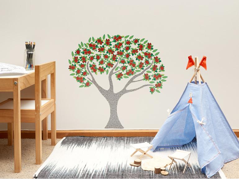 Pohutukawa Tree wall decal