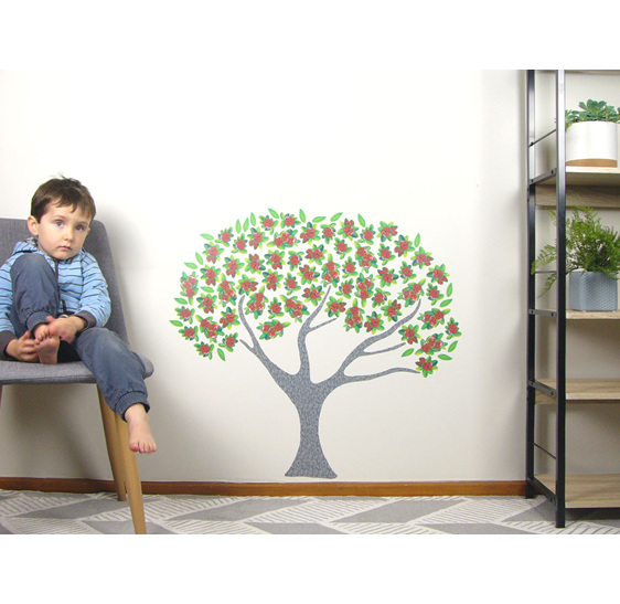 Pohutukawa wall decal small wall mural
