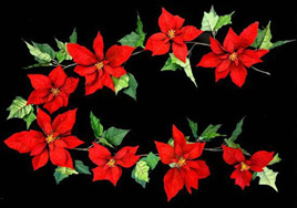 Poinsettia Garland 1.8m