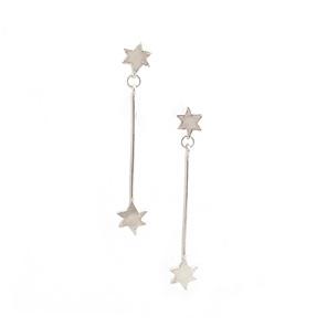 pointer stars sterling silver long dangle celestial southern cross earrings