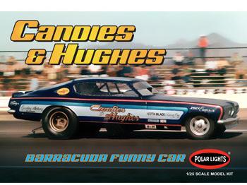 Polar Lights 1/25 Candies & Hughes Barracuda Funny Car