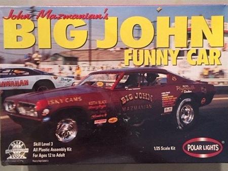 Polar Lights 1/25 John Mazmanians 1968 Barracuda Big John Funny Car