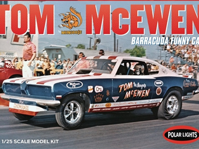 Polar Lights 1/25 Tom Mongoose McEwen 69 Barracuda Funny car