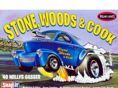 Polar Lights 1940 Willys Coupe Stone, Woods & Cook Snap Kit
