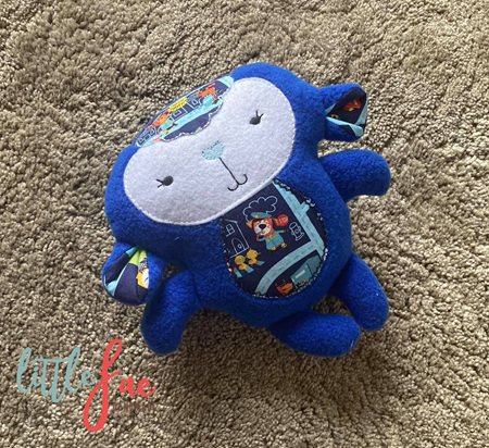 Police Blue Sheep Toy