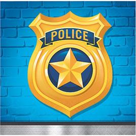 Police Party Beverage Napkins x 16