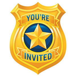 Police Party Invites x 8