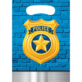 Police Party Loot Bags x 8