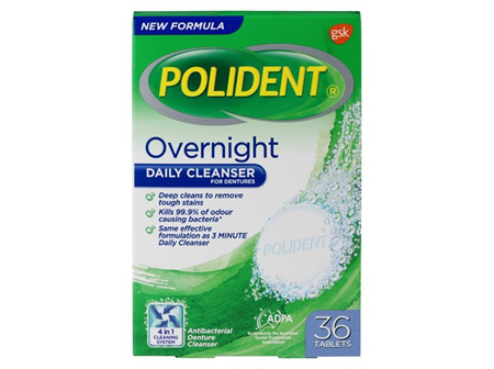 POLIDENT Overnight Tablets 36