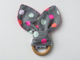 Polka Dot Bunny Teether