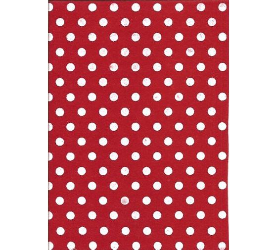 Polka Dot Felt - Red   CM18340