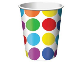 Polka Dot Party Cups x 8