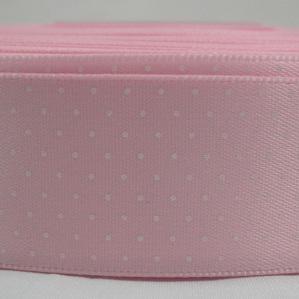 Polka Dot Satin Ribbon x 3 Metres: Pale Pink