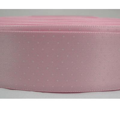 Polka Dot Satin Ribbon x 3 Metres: Pale Pink CLEARANCE