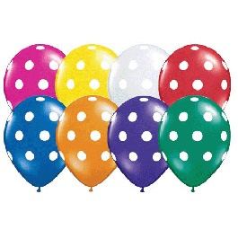 """Polka Dots 11"""" Balloons"""