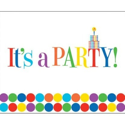 Polka Dots Birthday Invites