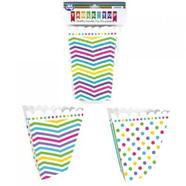 Polka/striped popcorn boxes x 6