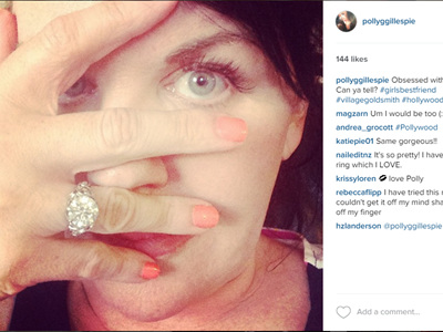 Polly Gillespie shows off her Immortal Diamonds by Vamp ring