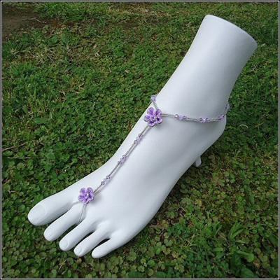 Polymer Clay Flower Barefoot Sandals