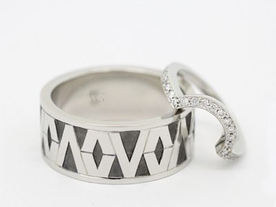 Polynesian Tapa Pattern Inspired Ring for Victor Vito