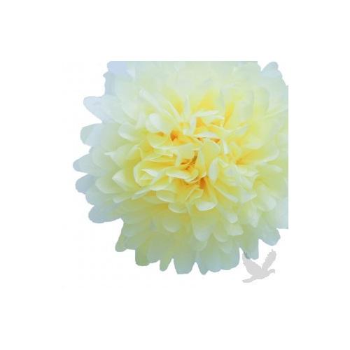 Pom pom flower balls 14 light yellow party lights company pom pom flower balls 14 light yellow mightylinksfo