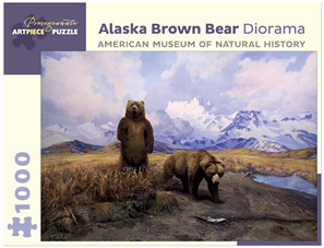 Pomegranate 1000 Piece Jigsaw Puzzle Alaska Brown Bear Diorama
