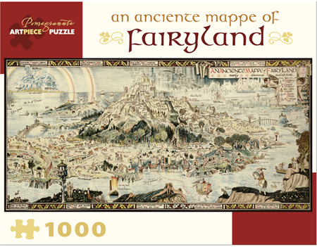 Pomegranate 1000 Piece Jigsaw Puzzle: AN ANCIENTE MAPPE OF FAIRYLAND