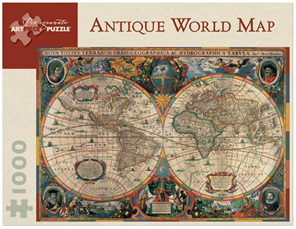 Top brands of jigsaw puzzles available to browse and buy online nz pomegranate 1000 piece jigsaw puzzle antique world map gumiabroncs Gallery