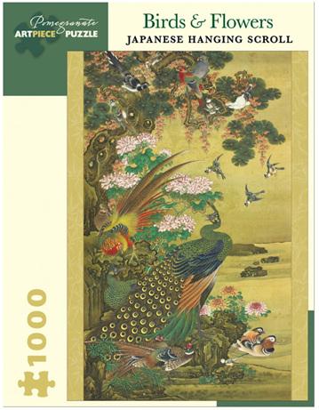Pomegranate 1000 Piece Jigsaw Puzzle: Birds & Flowers Japanese Scroll
