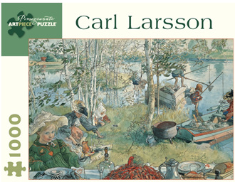 Pomegranate 1000 Piece Jigsaw Puzzle Carl Larsson: Crayfishing