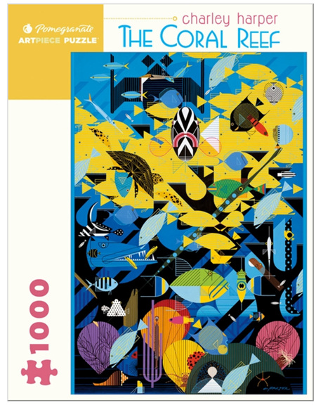 Pomegranate 1000 Piece Jigsaw Puzzle:  Charley Harper: The Coral Reef