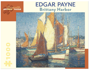 Pomegranate 1000 Piece Jigsaw Puzzle   Edgar Payne: Brittany Harbour