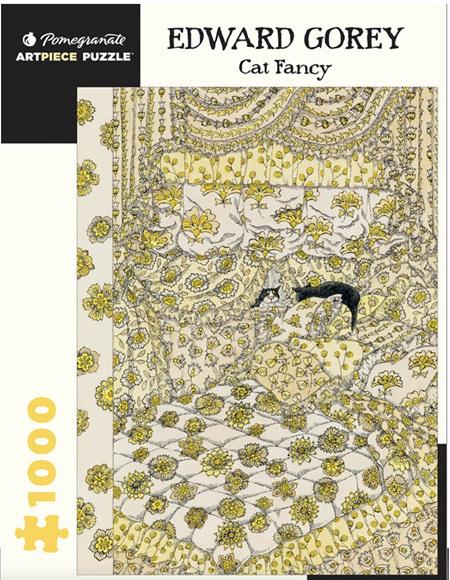 Pomegranate 1000 Piece Jigsaw Puzzle: EDWARD GOREY: CAT FANCY
