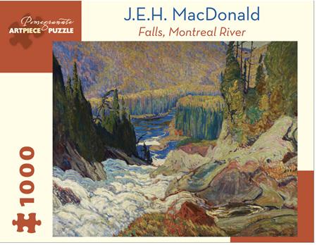 Pomegranate 1000 Piece Jigsaw Puzzle:  J.E.H. MACDONALD: FALLS, MONTREAL RIVER