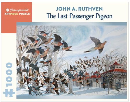 Pomegranate 1000 Piece Jigsaw Puzzle: John A. Ruthven: The Last Passenger Pigeon
