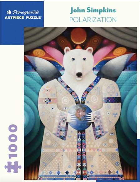 Pomegranate 1000 Piece Jigsaw Puzzle:  JOHN SIMPKINS: POLARIZATION