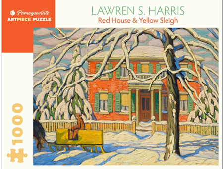 Pomegranate 1000 Piece Jigsaw Puzzle: Lawren Harris: Red House and Yellow Sleigh