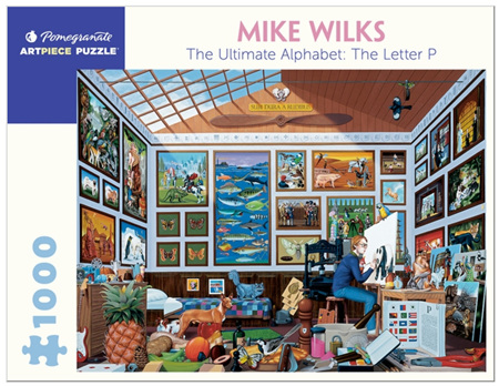 Pomegranate 1000 Piece Jigsaw Puzzle:  Mike Wilks: The Ultimate Alphabet: The Letter P