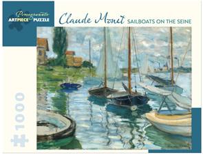Pomegranate 1000 Piece Jigsaw Puzzle Monet: Sailboats On The Seine