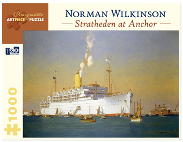Pomegranate 1000 Piece Jigsaw Puzzle Norman Wilkinson: Stratheden At Anchor