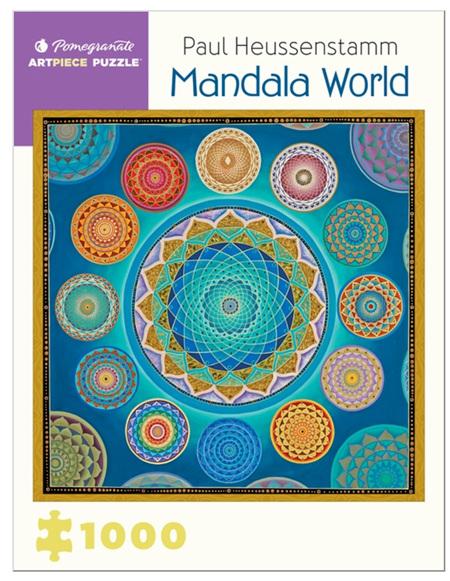 Pomegranate 1000 Piece Jigsaw Puzzle:  Paul Heussenstamm: Mandala World