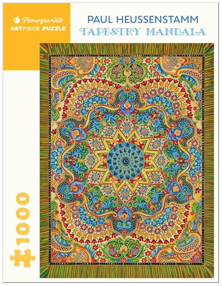 Pomegranate 1000 Piece Jigsaw Puzzle: Paul Heussenstamm: Tapestry Mandala