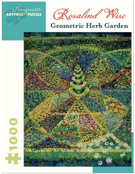 Pomegranate 1000 Piece Jigsaw Puzzle: ROSALIND WISE: GEOMETRIC HERB GARDEN
