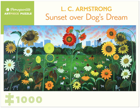 Pomegranate 1000 Piece Jigsaw Puzzle: Sunset Over A Dogs Dream