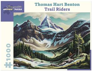 Pomegranate 1000 Piece Jigsaw Puzzle Thomas Benton: Trail Riders