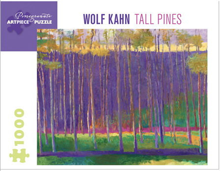 Pomegranate 1000 Piece jigsaw Puzzle: WOLF KAHN: TALL PINES