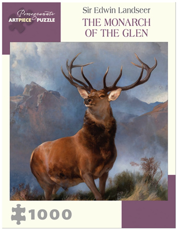 Pomegranate 1000 Piece Jigsaw Puzzle: SIR EDWIN LANDSEER: THE MONARCH OF THE GLEN