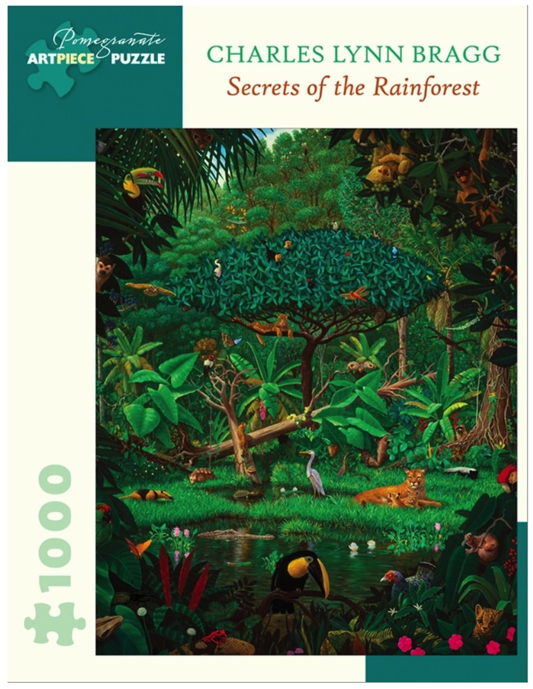 Pomegranate 1000 piece puzzle Secrets Of The rainforest at www.puzzlesnz.co.nz