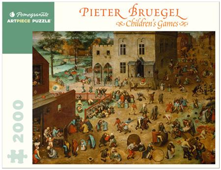 Pomegranate 2000 Piece Jigsaw Puzzle:  Pieter Bruegel: Children's Games