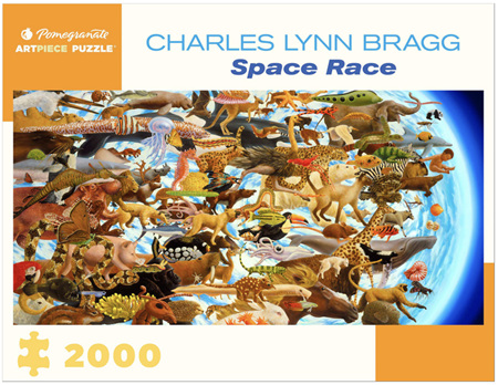 Pomegranate 2000 Piece Jigsaw Puzzle: Space Race